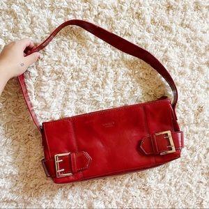 Vintage Leather Baguette Shoulder Bag